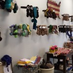 Part of the retail section. See those dyed skeins there? Those are some of my colorways dyed on the mill's yarns!