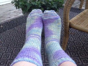 Linda Bissell knit these cozy socks using my Abandoned Beauty colorway dyed on Minnesota wool using the Rye pattern. http://www.ravelry.com/patterns/library/rye-4