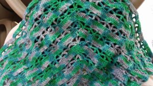 Christina Mead showcased my Before the Storm colorway in this gorgeous shawl. She used the Stormchaser shawl pattern by RachySellsStuff.